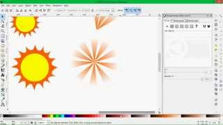 How to create Sun and Sunrays in Inkscape Software