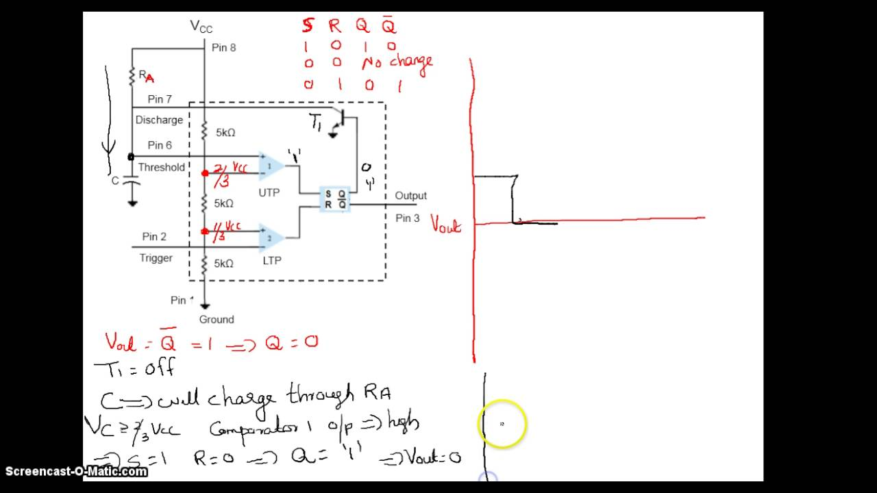 Monostable Multivibrator Using 555 Youtube Timer As An Astable And