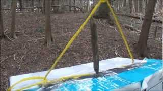 AIRSOFT TARGET PRACTICE ON A SMALL STICK