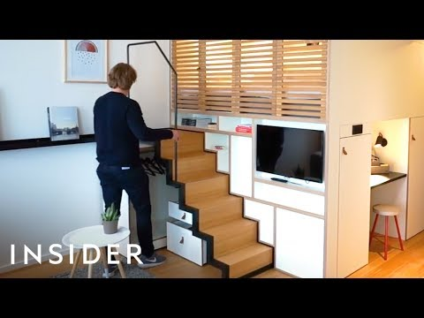 How This Tiny Apartment Easily Combines Home And Office Space