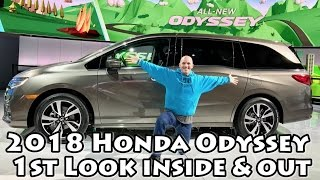 2018 Honda Odyssey 1st Look & It's Awesome
