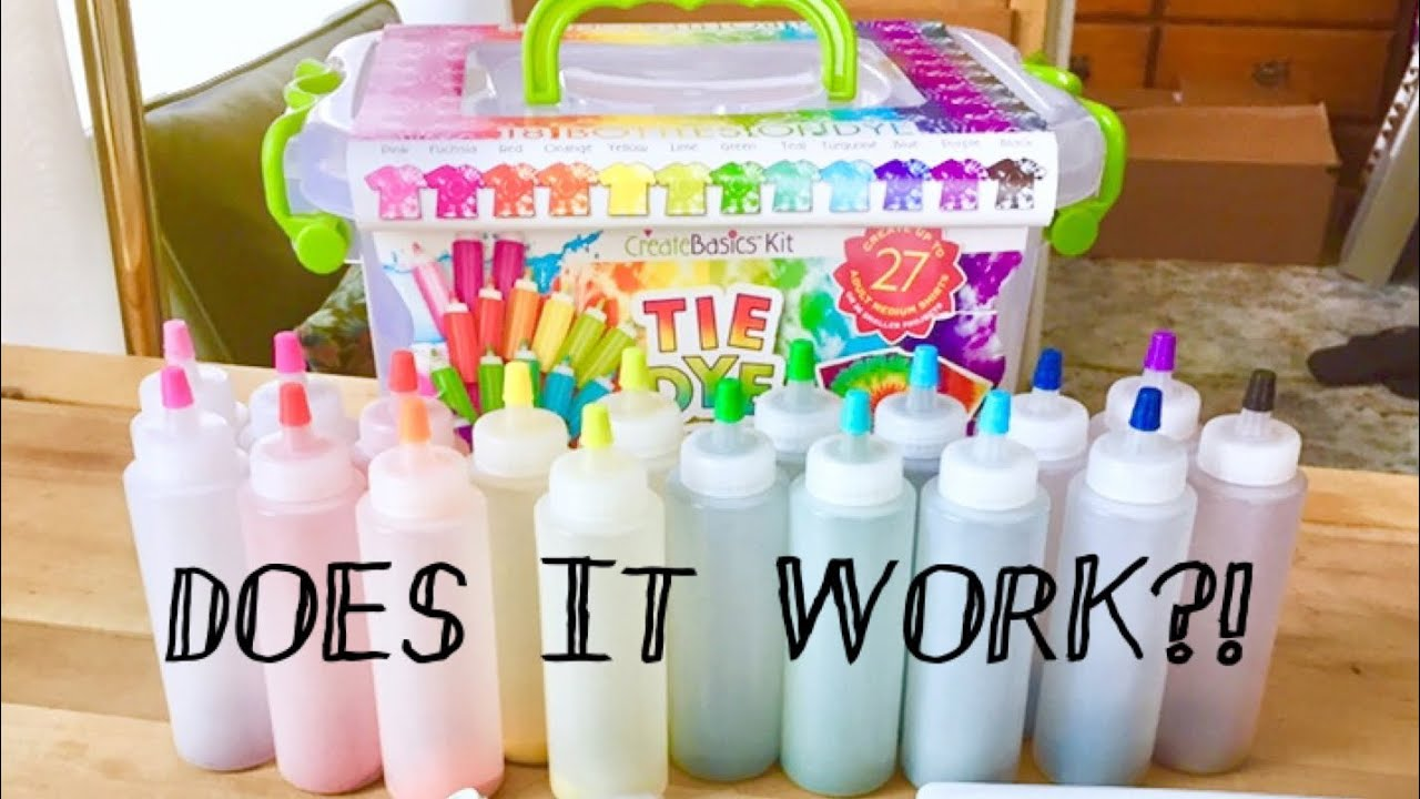 Testing The Create Basics Tie Dye Party Tub Kit Unboxing And Create