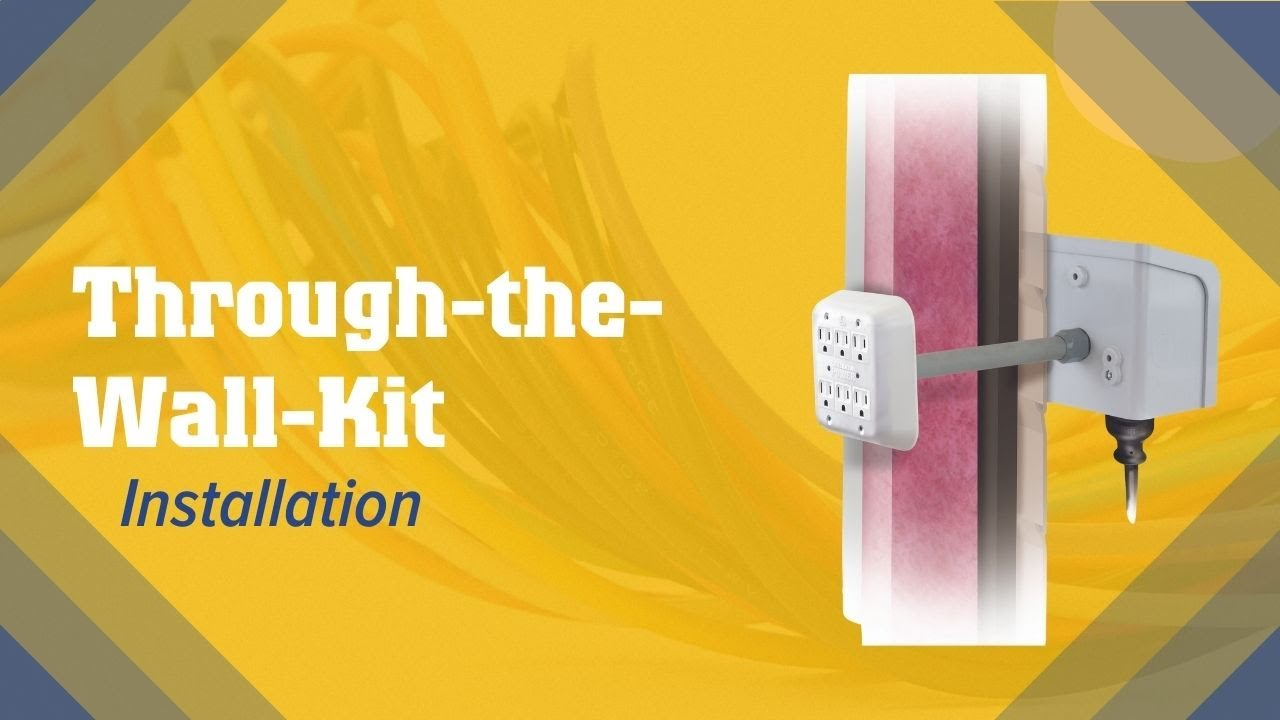 Wkpbn30 Installation Generator Power Through The Wall Kit Youtube Home Standby Wiring Diagram Whole House Automatic
