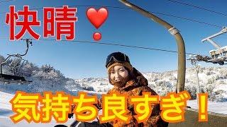 快晴の中気持ち良くスキー場を滑ってみる thumbnail