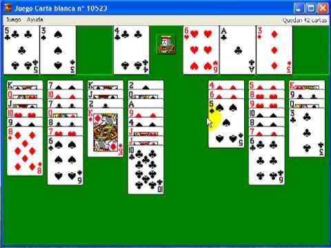 jugar gratis carta blanca solitario