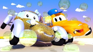 Tom the Tow Truck's Car Wash -  Katie The Kit Car 2 - Car City ! Cars and Trucks Cartoon for kids