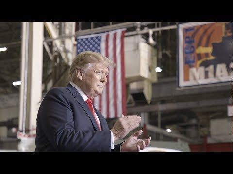 """President Trump Tours Ohio Tank Factory: """"We are rebuilding the American military"""""""