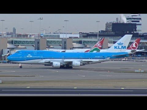 [4K] BEAUTIFUL Evening Movements | Plane Spotting at Amsterdam Airport Schiphol B747, B777, A330
