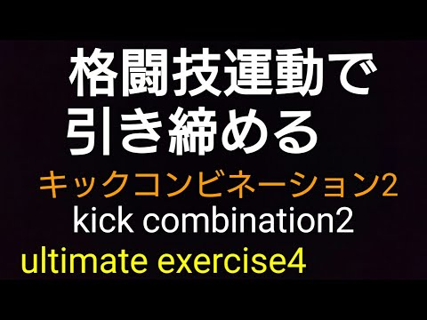 kick combi2 ultimate exercise4 キックボクシングで脂肪燃焼