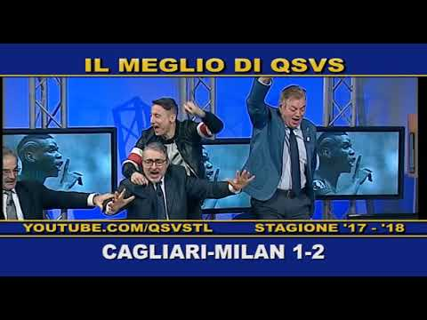 QSVS - I GOL DI CAGLIARI - MILAN 1-2 TELELOMBARDIA / TOP CALCIO 24
