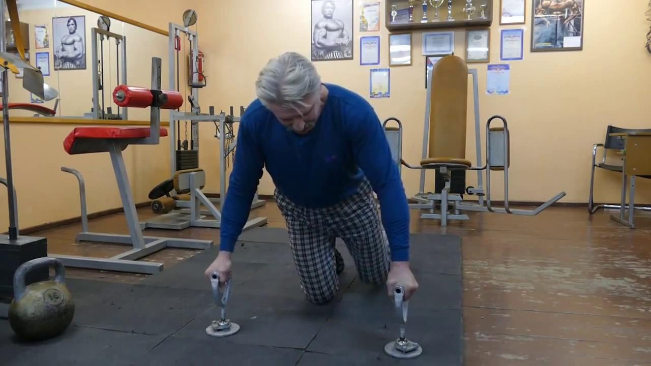 Необычные упражнения с гирями и отжимания - YouTube