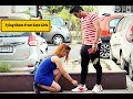 Tying shoes From cute Girls ||  Sam Khan