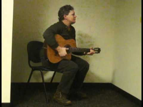 Sherman S. Sherman plays his songs from the coat alcove at RAC PRESENTS FOUR POETS AND A BUSKER