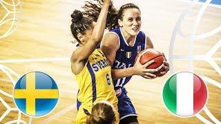 Sweden v Italy - Full Game - FIBA U18 Women's European Championship 2018