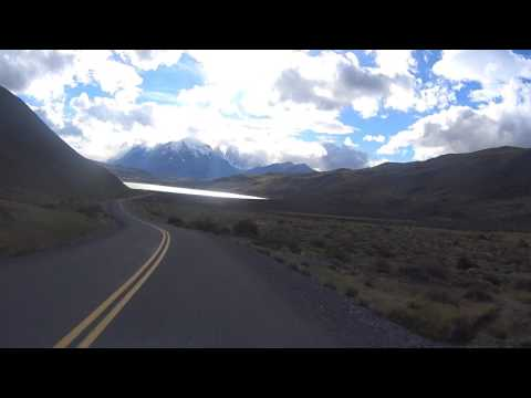 Scenic Drive - National Park Torres del Paine - front seat view