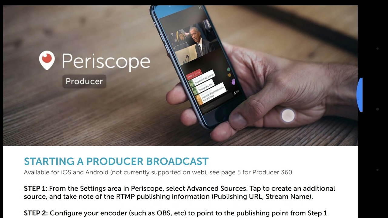 Orah 4i integrated in Periscope (and Twitter)
