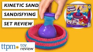 2019 Kinetic Sand Sandisfying Set toy review from Spin Master