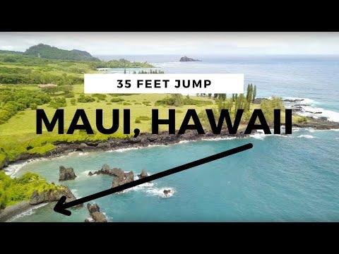 Cliff Jumping at Waioka Pond, HANA, Maui - HAWAII
