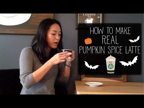 How to make REAL pumpkin spice latte