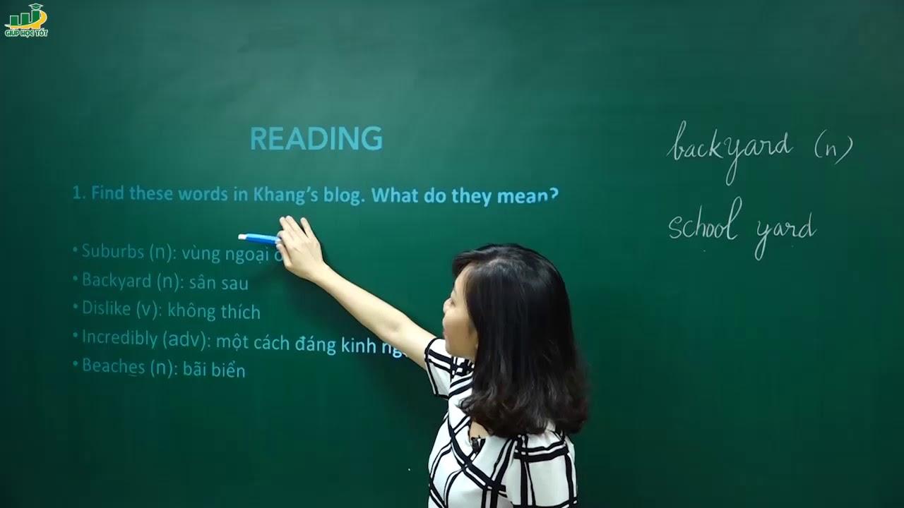 Tiếng Anh lớp 6 – Lesson 5 Skills 1 – trang 44 Unit 4 my neighbourhood SGK tiếng anh 6 mới