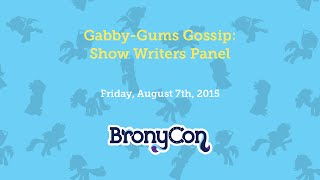 Gabby-Gums Gossip: Show Writers Panel