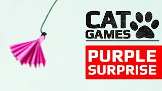 CAT GAMES - PURPLE SURPRISE (ENTERTAINMENT VIDEOS FOR CATS TO WATCH)