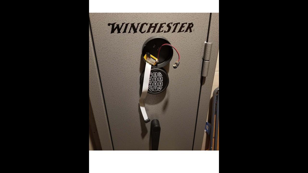 Winchester 10 Gun Electronic Lock Repair