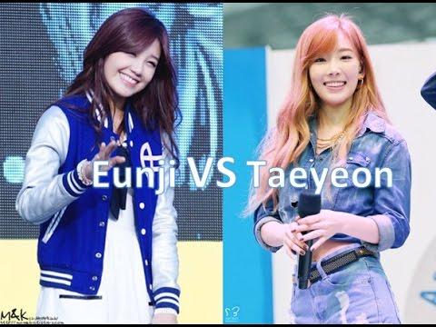 Apink's Eunji VS SNSD's Taeyeon - YouTubeEunji And Baekhyun
