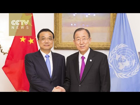 Chinese premier meets UN chief on development and climate change