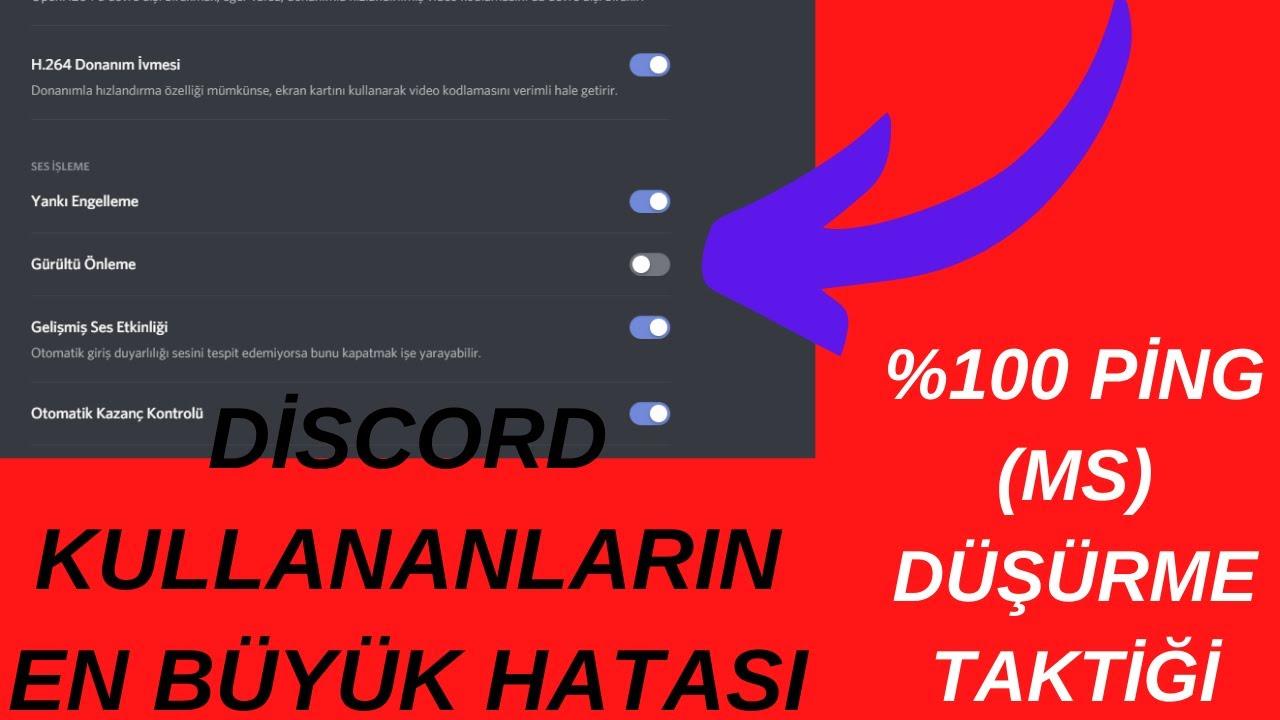 DİSCORD SES GİTMEME-GELMEME VE PİNG SORUNU 2020!