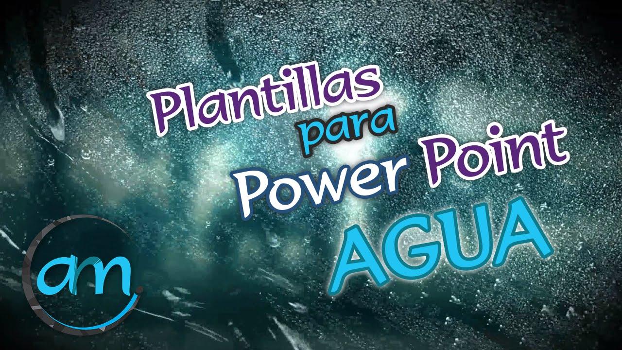 plantillas animadas para power point - agua