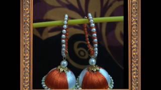 Silk Thread Earrings..