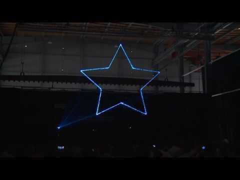 Lasershow Eröffnung WIEGEL Feuerverzinken Werk Feuchtwangen