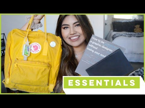 GRAPHIC DESIGN ESSENTIALS: What's in my Backpack