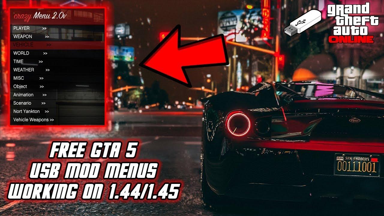 GTA 5 Online 1 44/1 45: How To Install USB Mod Menus! (XB1,PS4, PS3,XB360,  & PC) | NEW 2019!