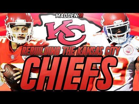 Rebuilding The Kansas City Chiefs | Madden 18 Connected Franchise Rebuild | Patrick Mahomes Starts