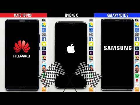 Download Youtube: Huawei Mate 10 Pro vs. iPhone X vs. Galaxy Note 8 Speed Test