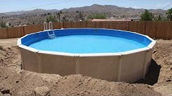 It's Not Easy building an Above-Ground Swimming Pool (Installation Time-Lapse)