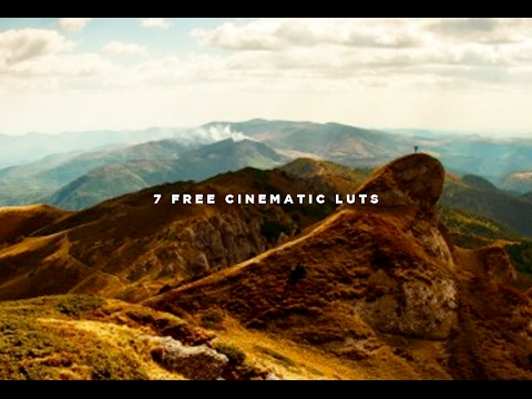 7 Cinematic Luts For Free Adobe Premiere Pro Cc Fcpx Etc Youtube