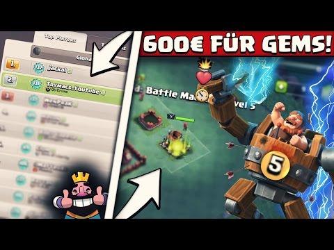 BATTLE MACHINE LEVEL 5! | PLATZ 2 LOKAL! | 600€ in neues Update gesteckt! | Clash of Clans Deutsch