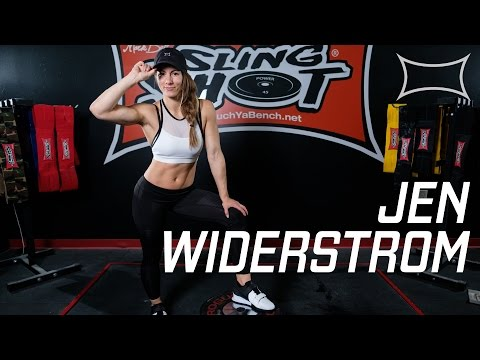 Squatting with Jen Widerstrom at SuperTraining Gym
