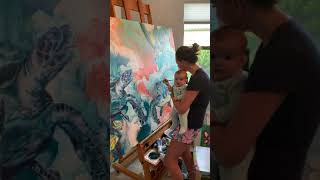 Painting with the baby!