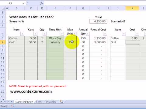 Calculate Annual Costs and Savings with Excel Template - YouTube