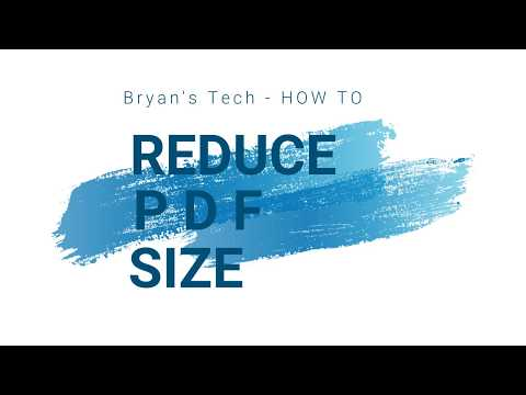 How to reduce the size of a pdf acrobat xi pro