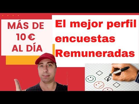 El MEJOR PERFIL PARA CONTESTAR ENCUESTAS. Gana más +10€/día