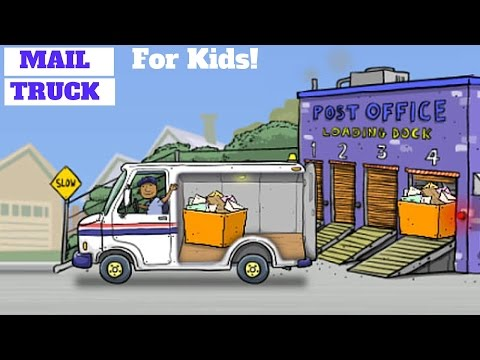 Mail Truck!  Deliver The Mail! l For Kids