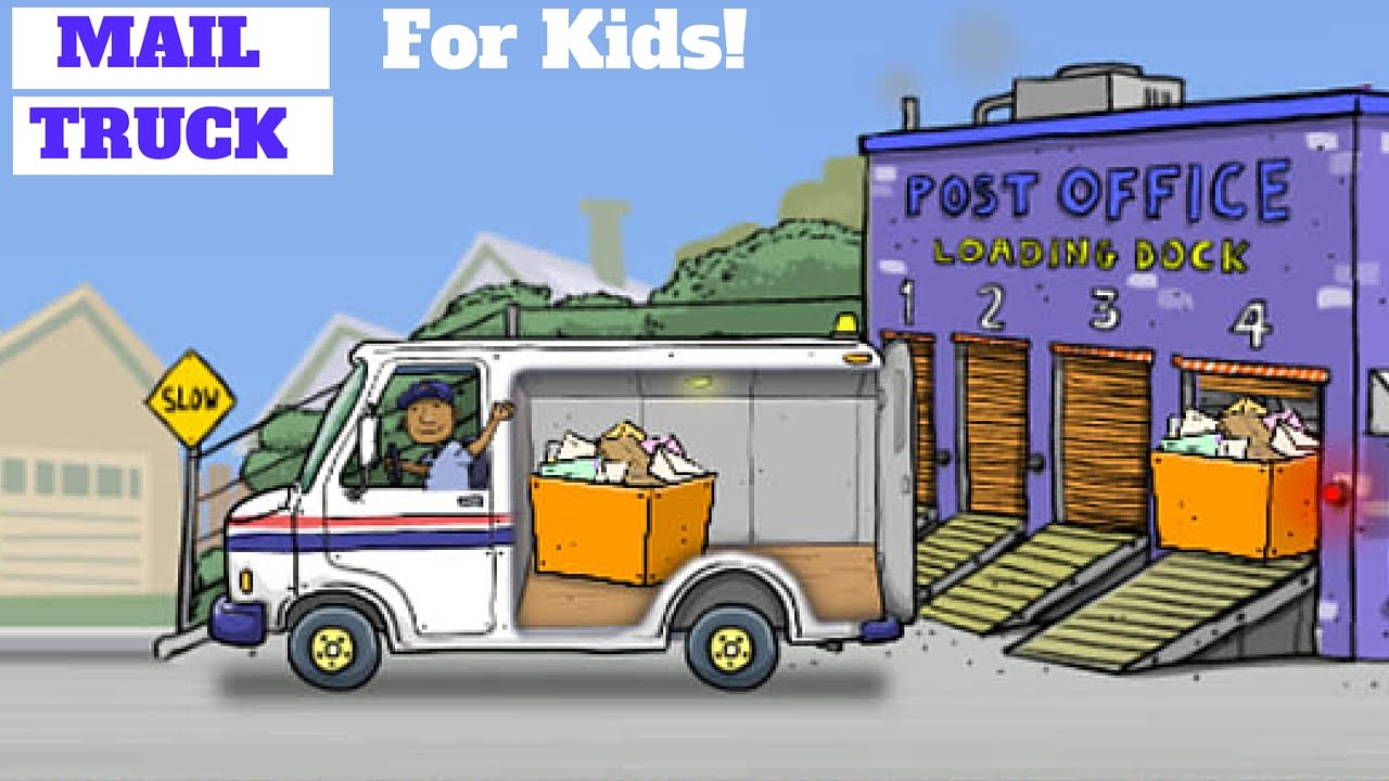 Truck Deliver The Mail L For Kids