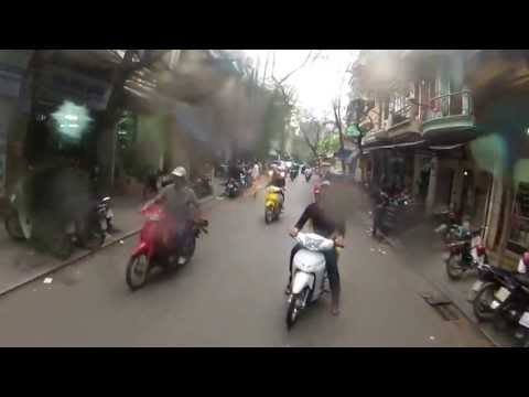 Ride in Hanoi on a rainy day - Vietnam / March 2013