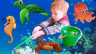 ВЕСЁЛАЯ РЫБАЛКА для детей! FUN FISHING for kids!   للأطفال! play أطفال يلعبون الصيد 有趣的孩子釣魚!
