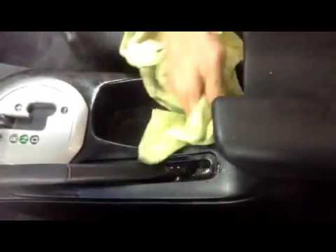 Cleaning Cup Holder with Steam - Auto Detailing